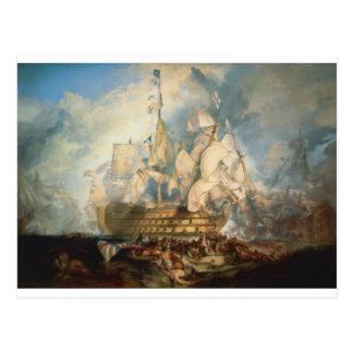 The Battle of Trafalgar by William Turner Postcard