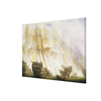 The Battle of Trafalgar, c.1841 (oil on canvas) Stretched Canvas Print