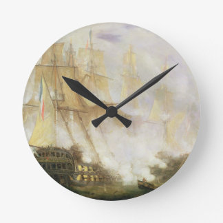 The Battle of Trafalgar, c.1841 (oil on canvas) Round Wall Clocks