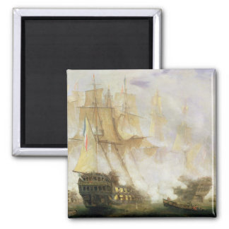 The Battle of Trafalgar, c.1841 (oil on canvas) Magnet