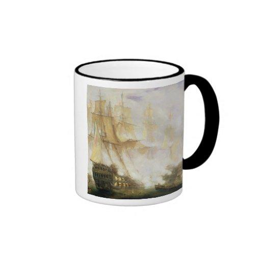 The Battle of Trafalgar, c.1841 (oil on canvas) Coffee Mug