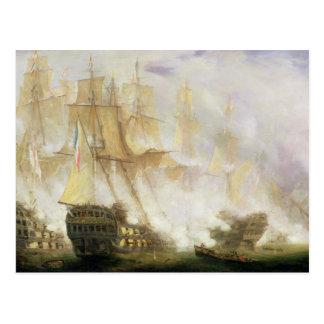 The Battle of Trafalgar, c.1841 (oil on canvas) Postcard