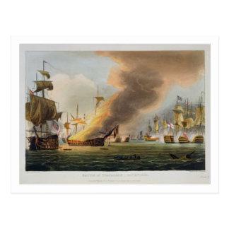 The Battle of Trafalgar, October 21st 1805, engrav Postcard