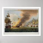 The Battle of Trafalgar, October 21st 1805, engrav Print