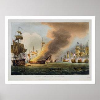 The Battle of Trafalgar, October 21st 1805, engrav Poster