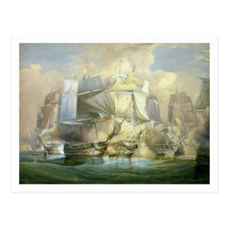 The Battle of Trafalgar, the Beginning of the Acti Postcard