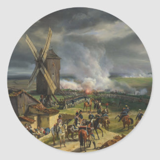 The Battle of Valmy by Jean-Baptiste Mauzaisse Classic Round Sticker