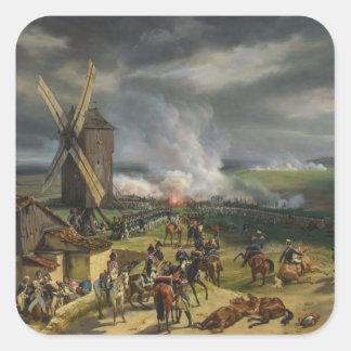 The Battle of Valmy by Jean-Baptiste Mauzaisse Square Sticker
