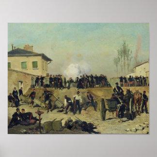 The Battle of Villejuif, Siege of Paris, 1870 Poster