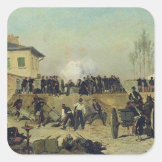 The Battle of Villejuif, Siege of Paris, 1870 Square Sticker