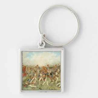 The Battle of Vitoria, June 21st 1813 (w/c on pape Silver-Colored Square Keychain