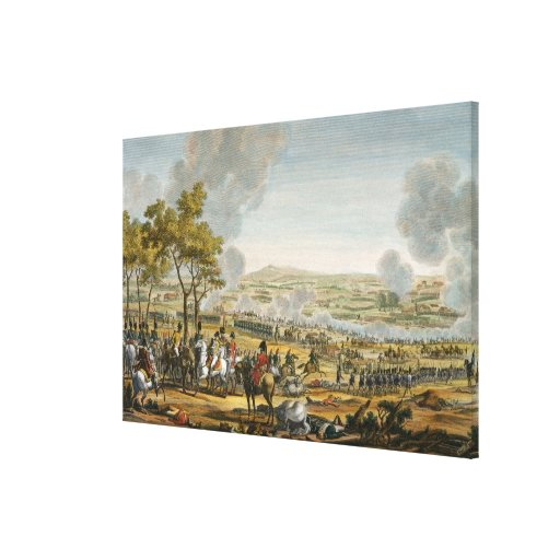 The Battle of Wagram, 7 July 1809, engraved by Lou Stretched Canvas Prints