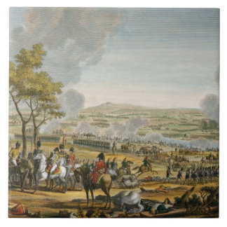 The Battle of Wagram, 7 July 1809, engraved by Lou Ceramic Tile