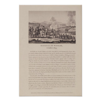 The Battle of Wagram on 6th July 1809 Poster