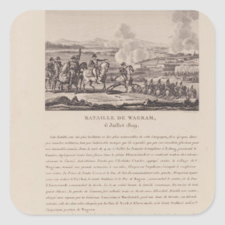 The Battle of Wagram on 6th July 1809 Square Sticker