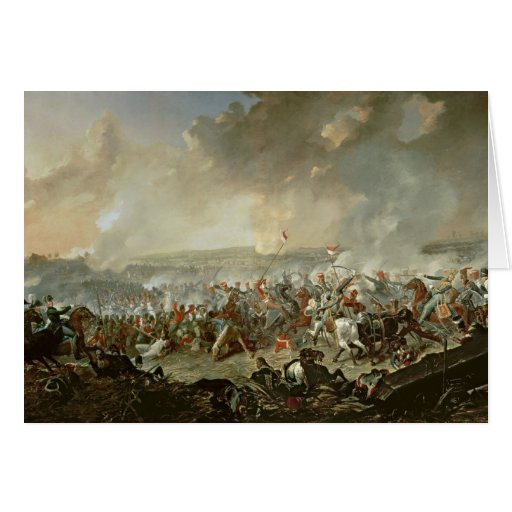 The Battle of Waterloo, 18th June 1815 Greeting Card