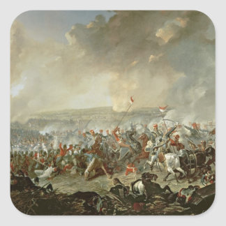The Battle of Waterloo, 18th June 1815 Square Sticker