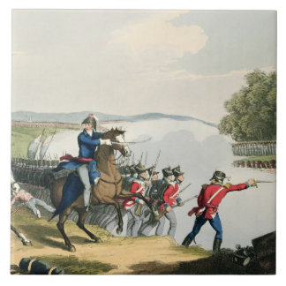 The Battle of Waterloo Decided by the Duke of Well Ceramic Tile