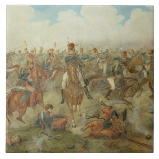 The Battle of Waterloo, June 18th 1815 (w/c on pap Ceramic Tile