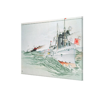 The Battle of Yalu, 17th September 1894 Canvas Print