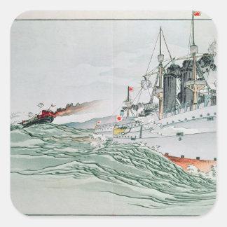 The Battle of Yalu, 17th September 1894 Square Sticker