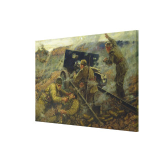 The Battle of Yelnya near Moscow in 1941 Canvas Print