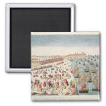 The Battle of Yorktown, 19th October 1781 2 Inch Square Magnet