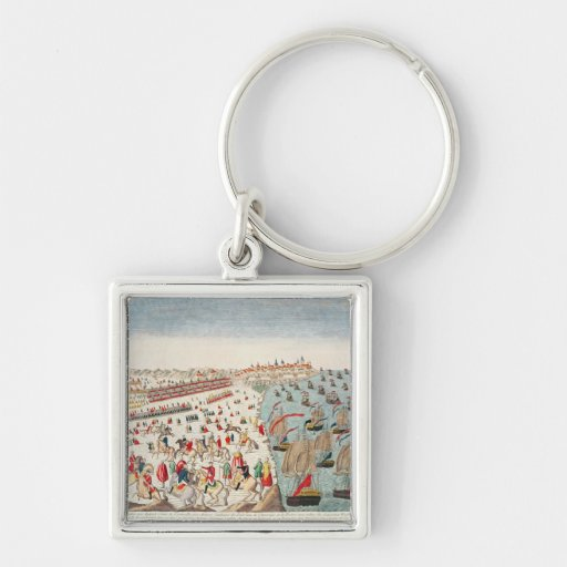 The Battle of Yorktown, 19th October 1781 Key Chain
