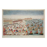 The Battle of Yorktown, 19th October 1781 Print