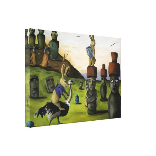 The Battle Over Easter Island Gallery Wrapped Canvas