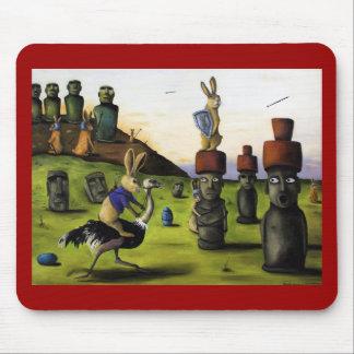 The Battle Over Easter Island Mousepad