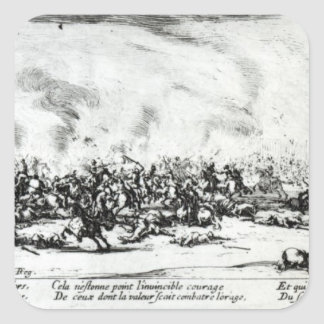 The Battle, plate 3 from 'The Miseries Square Sticker