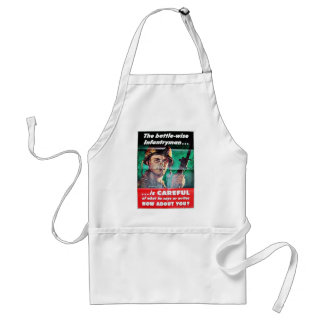 The Battle Wise Infantry Man Adult Apron
