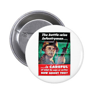 The Battle Wise Infantry Man Buttons