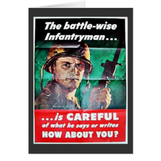 The Battle Wise Infantry Man Greeting Cards