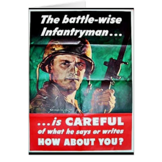 The Battle Wise Infantry Man Greeting Card