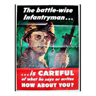 The Battle Wise Infantry Man Postcard