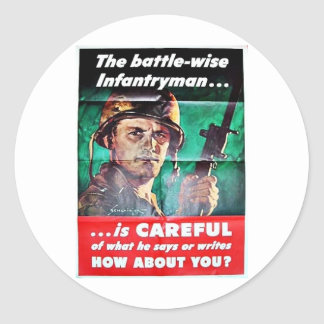 The Battle Wise Infantry Man Stickers