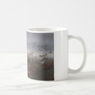 The Battle with the Spanish Armada by Hendrick Coffee Mug