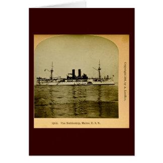 The Battleship Maine Vintage Stereoview Card