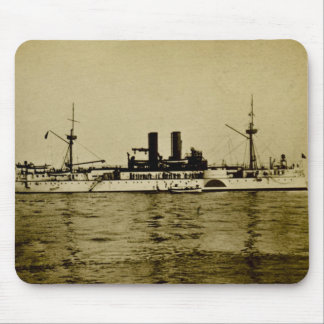The Battleship Maine Vintage Stereoview Mouse Pad