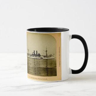 The Battleship U.S.S. Maine Vintage Stereoview Mug