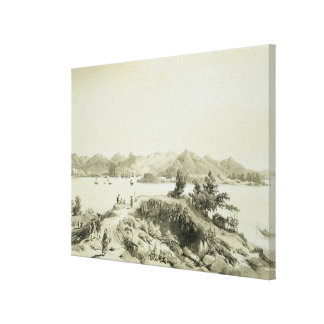 The Bay and Island of Hong Kong, plate 4 from 'Ske Canvas Print