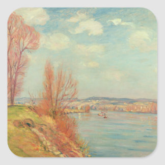 The Bay and the River, 1901 (oil on canvas) Square Sticker