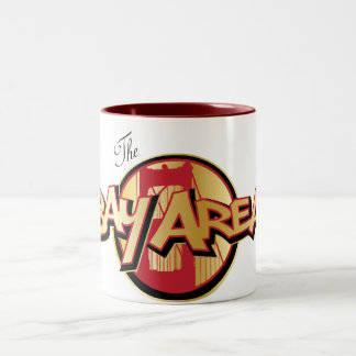 The Bay Area Mug Red & Gold