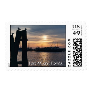 The Bay at Sunset, Fort Myers, Florida Postage