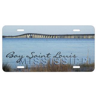 """""""The Bay Bridge"""" Bay Saint Louis License Plate"""