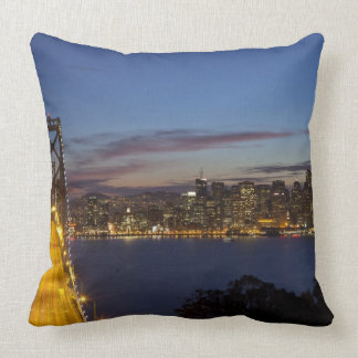 The Bay Bridge from Treasure Island 2 Throw Pillow