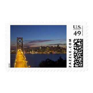 The Bay Bridge from Treasure Island 2 Postage Stamp
