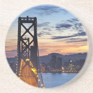 The Bay Bridge from Treasure Island Drink Coaster